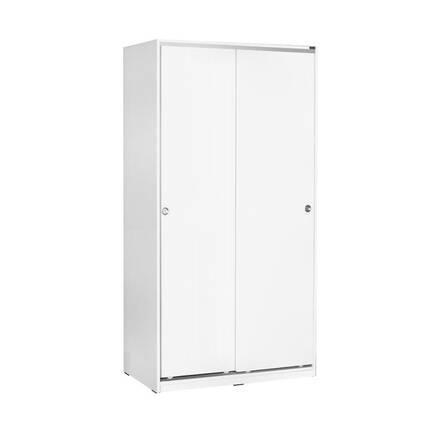 Adore Mobilya - 5 Raflı Sürgülü Gardırop - Beyaz
