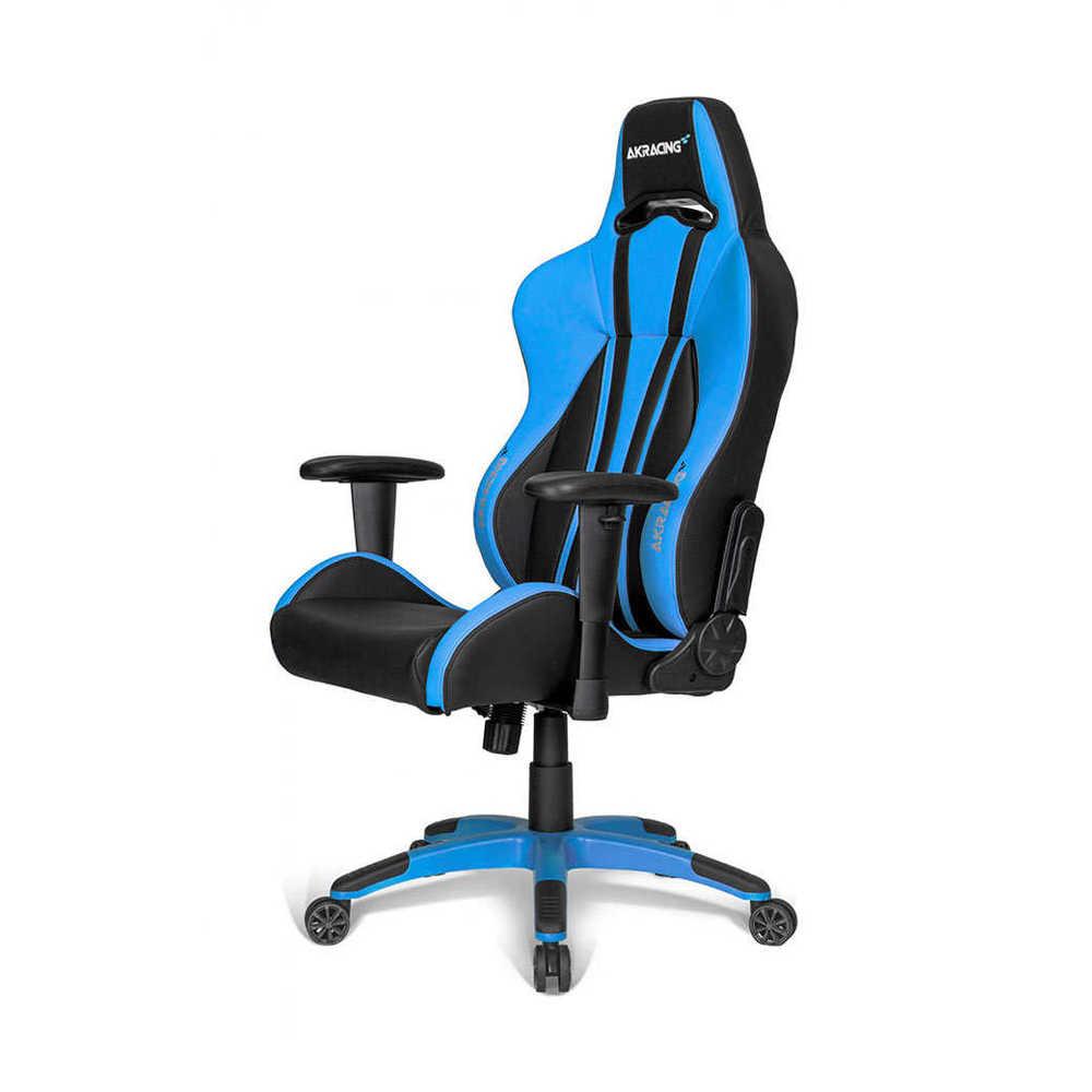 AKRacing Plus Seri Profesyonel PC Oyuncu ve Yönetici Koltuğu - Siyah-Mavi