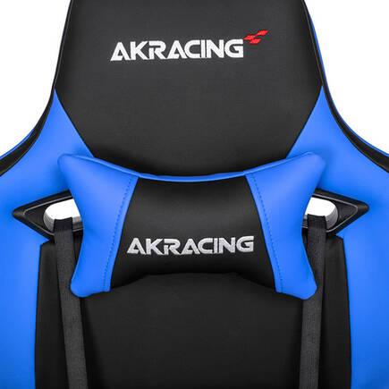 AKRacing Pro X Serisi Profesyonel PC Oyuncu ve Yönetici Koltuğu - Siyah-Mavi - Thumbnail