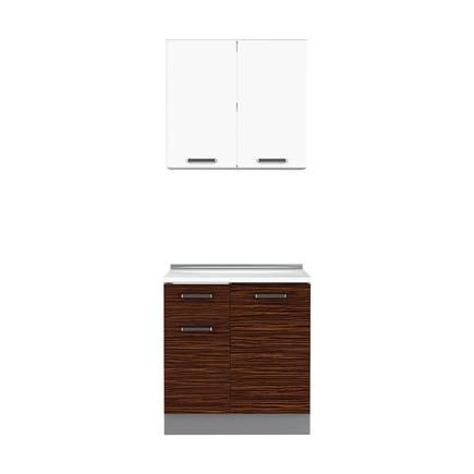 Adore Mobilya - Adore Apart Hazır Mutfak Dolabı 80 cm MTF-080-VP-1 Verona-Lake Beyaz