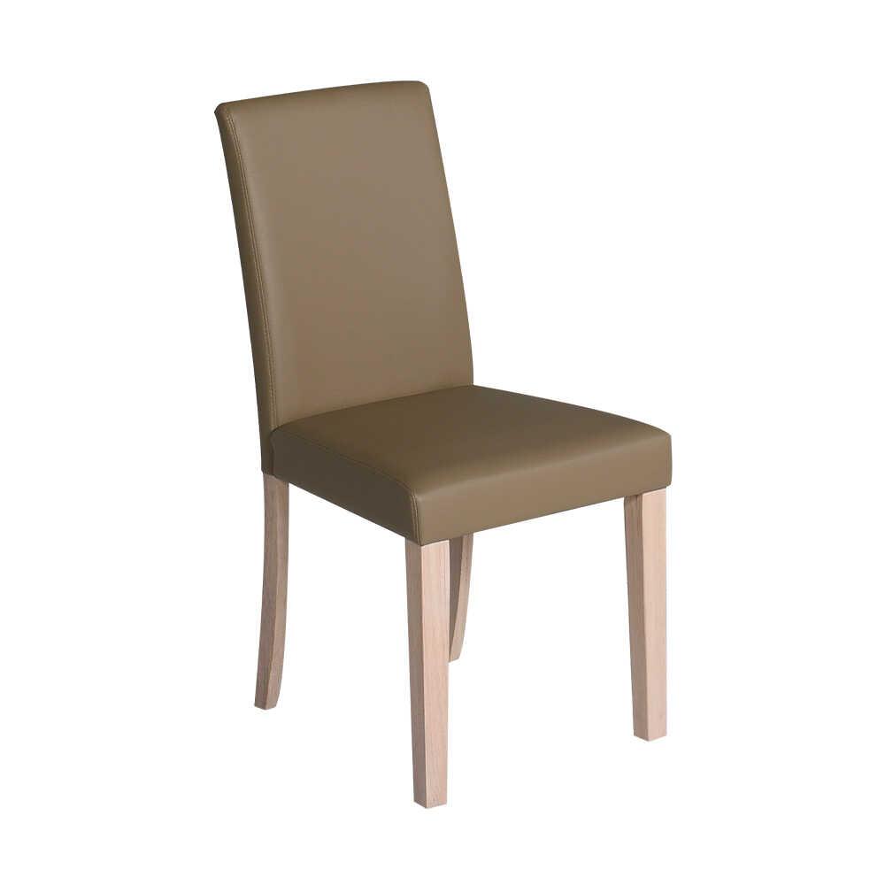 Club Doğal Ahşap Sandalye - Beyaz-Vizon