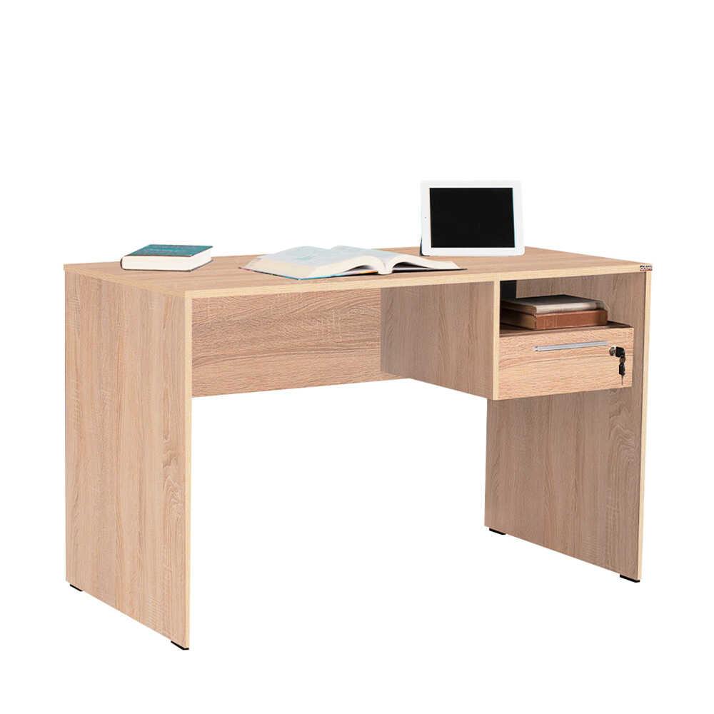 Concept Kilitli Çekmeceli Çalışma Masası - Sonoma