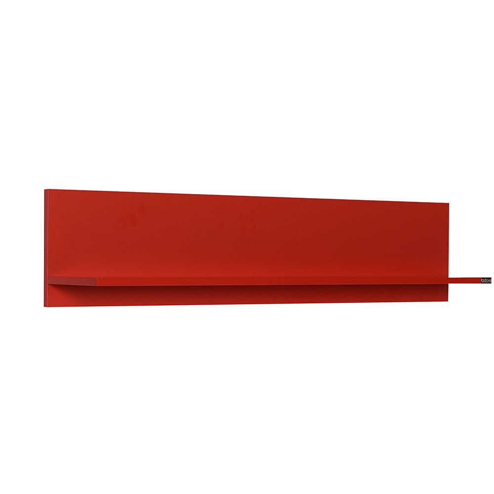 Dekoratif Duvar Rafı - Kırmızı