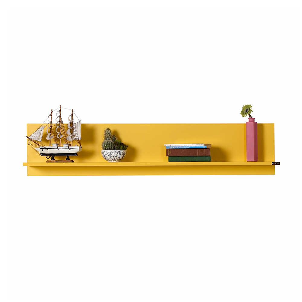 Dekoratif Duvar Rafı - Sarı
