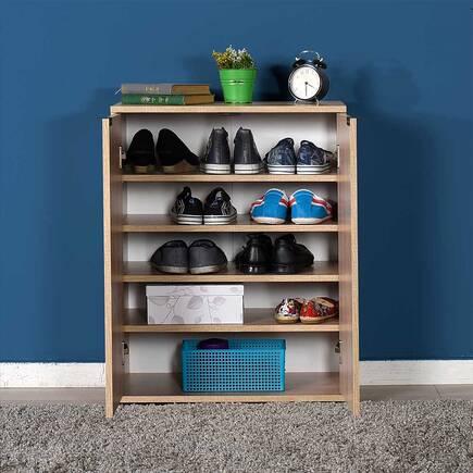 Dinamik 2 Kapaklı 5 Bölmeli Ayakkabılık - Sonoma - Thumbnail