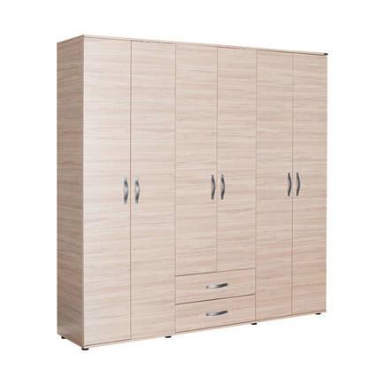 Adore Mobilya - Dinamik Genç Odası 6 Kapı İki Çekmeceli Gardırop - Zara