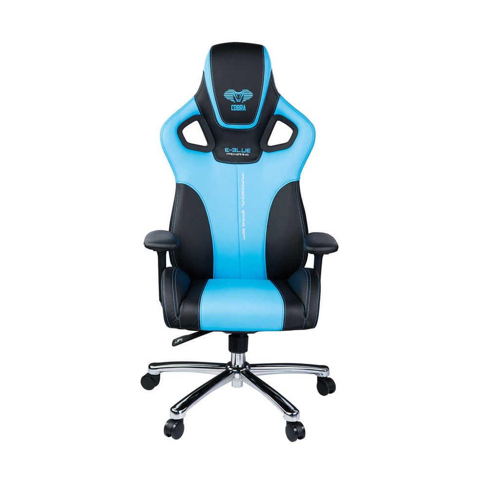 E-Blue Cobra Advanced Plus Oyuncu Koltuğu-S.Deri Siyah-Mavi