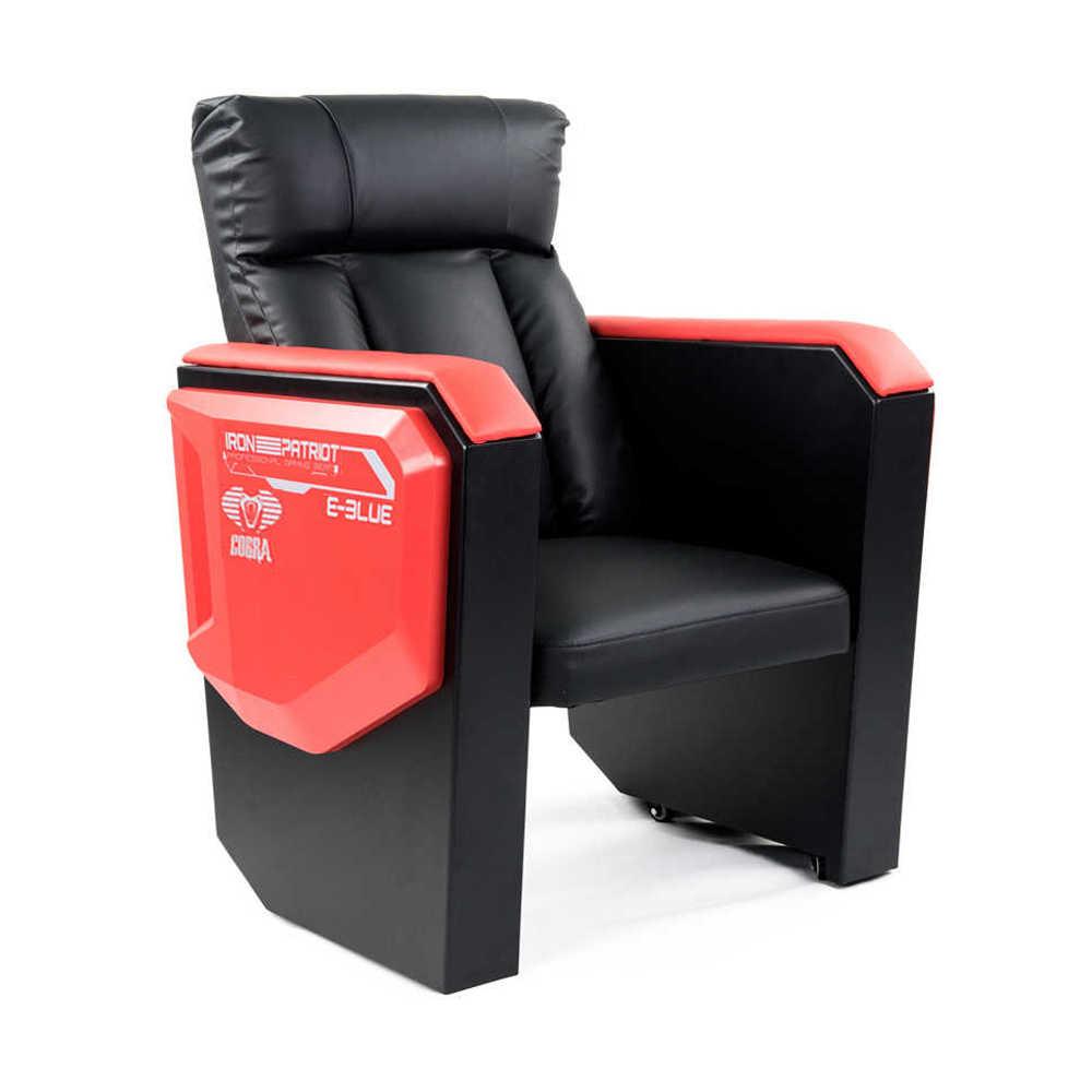 E-Blue Cobra Geniş Oturum Oyuncu Koltuğu-S.Deri-Siyah-Kırmızı