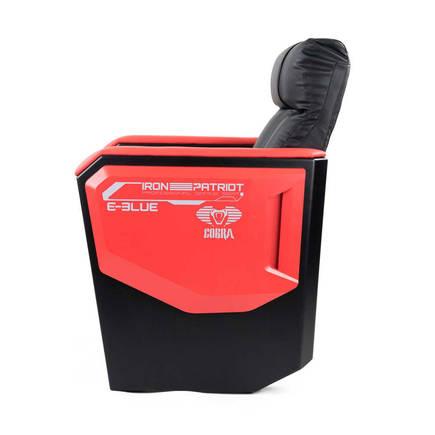 E-Blue Cobra Geniş Oturum Oyuncu Koltuğu-S.Deri-Siyah-Kırmızı - Thumbnail