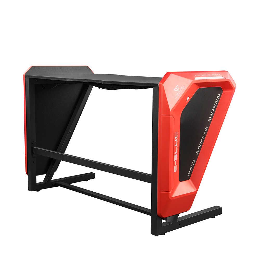 E-Blue Expert Oyuncu Bilgisayar Masası -Mavi Led Işıklı-Siyah Kırmızı