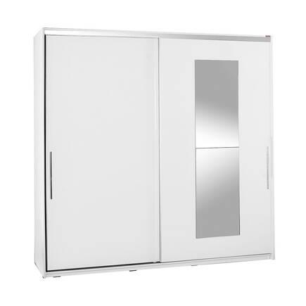 Adore Mobilya - Elit Plus Aynalı Sürgülü Gardırop - Beyaz