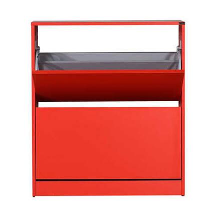Adore Mobilya - Flat Duo 2 Katlı Geniş Ayakkabılık Dolabı - Kırmızı
