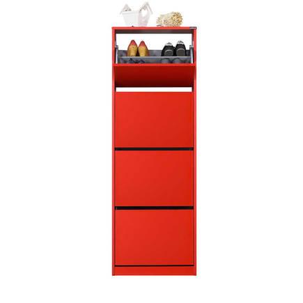 Flat Duo 4 Katlı Ayakkabılık Dolabı - Kırmızı - Thumbnail