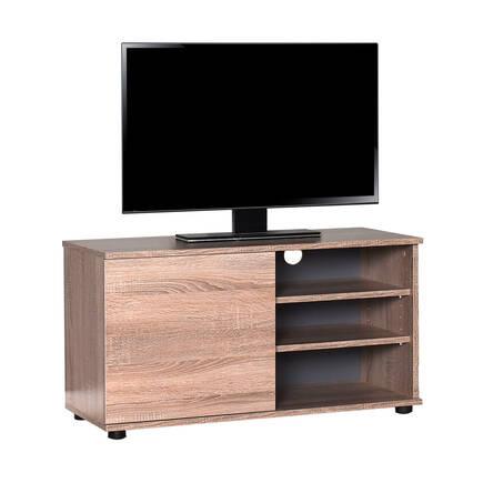 Adore Mobilya - Flat Line Kapaklı Üç Bölmeli Tv Sehpası - Latte