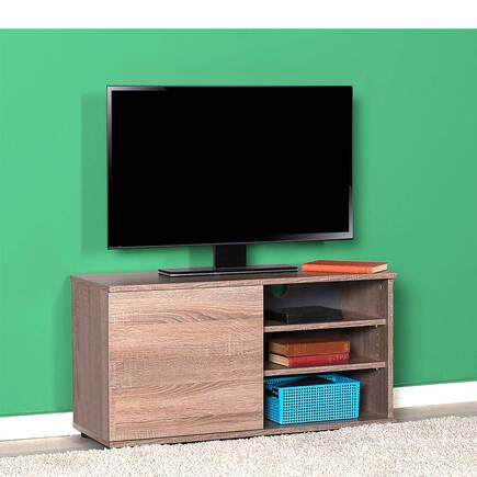 Flat Line Kapaklı Üç Bölmeli Tv Sehpası - Latte - Thumbnail