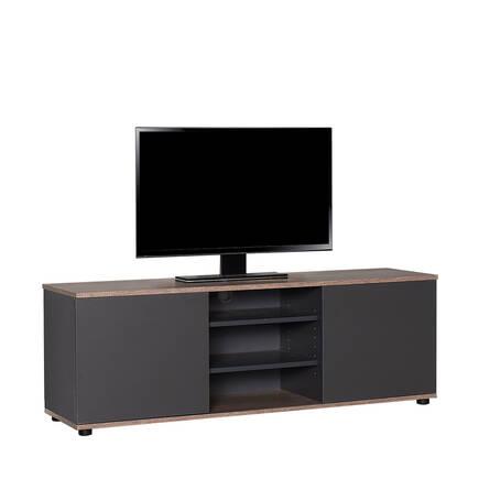 Adore Mobilya - Flat Line Max İki Kapaklı Üç Bölmeli Tv Sehpası - Latte-Antrasit