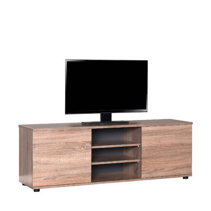 Adore Mobilya - Flat Line Max İki Kapaklı Üç Bölmeli Tv Sehpası - Latte