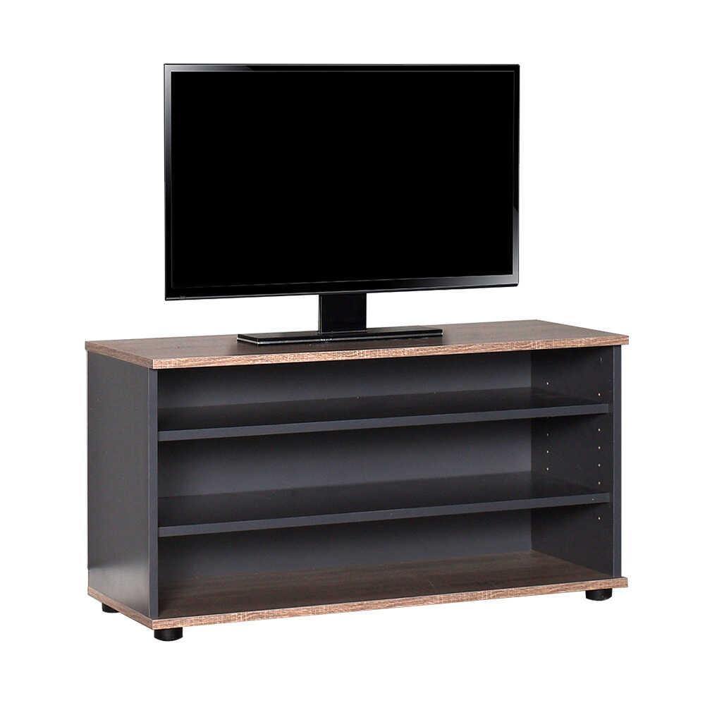 Flat Line Üç Bölmeli Tv Sehpası Latte-Antrasit