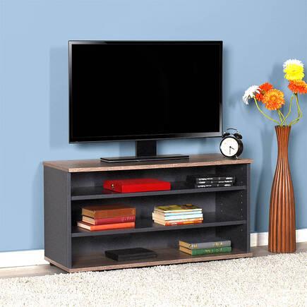 Flat Line Üç Bölmeli Tv Sehpası Latte-Antrasit - Thumbnail