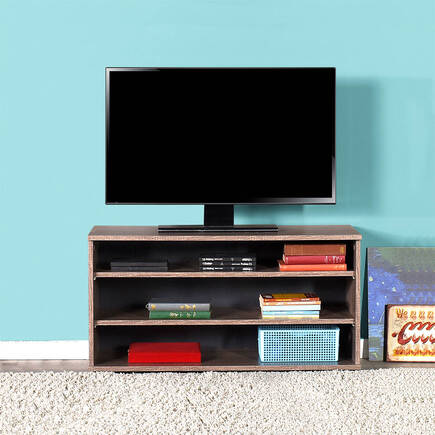 Flat Line Üç Bölmeli Tv Sehpası - Latte - Thumbnail
