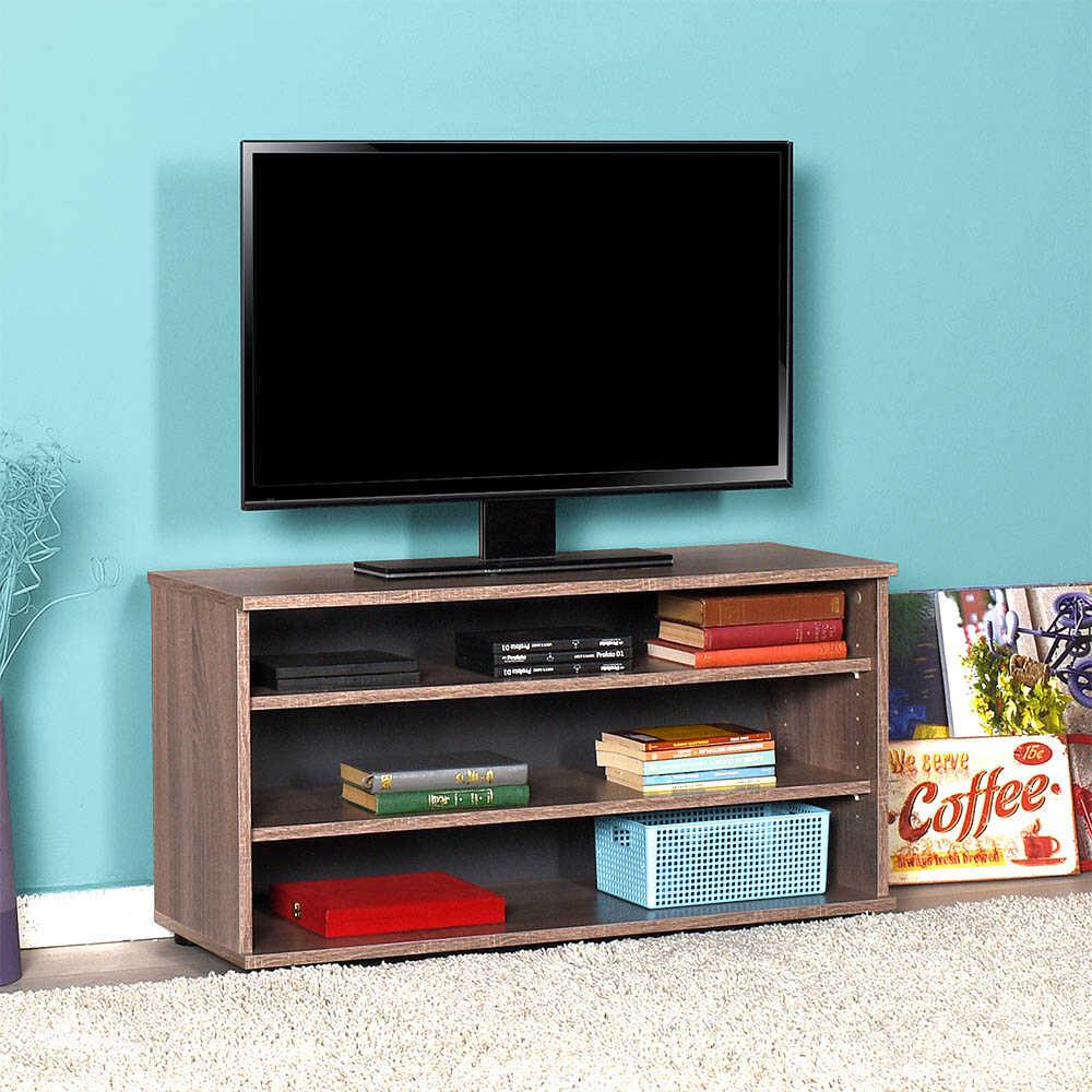 Flat Line Üç Bölmeli Tv Sehpası - Latte