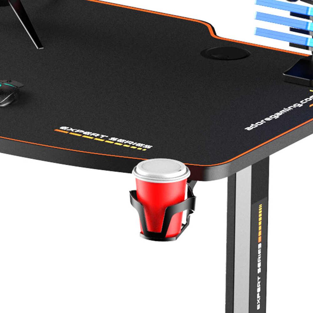 Adore Gaming Expert Oyuncu Bilgisayar Masası Karbon Çelik Gövde Siyah