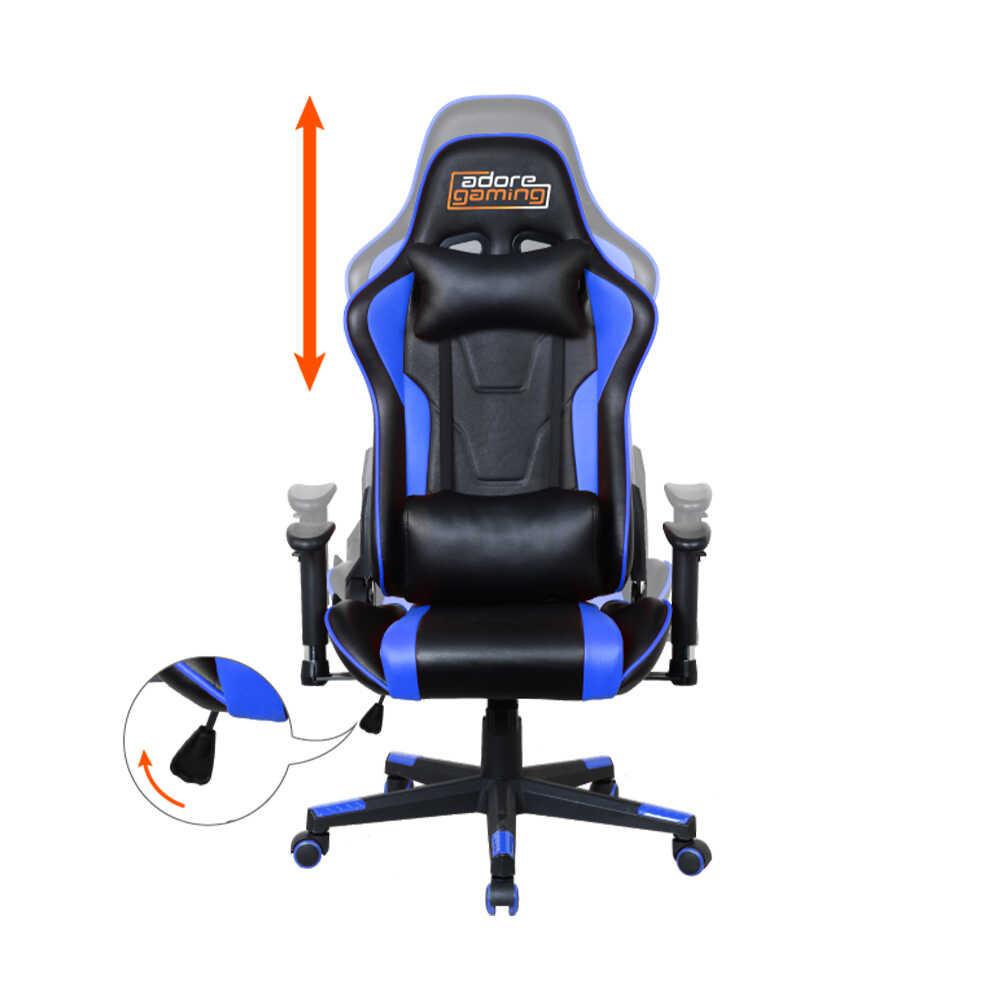 Adore Gaming Master Pro Profesyonel Oyuncu Koltuğu-Siyah-Mavi