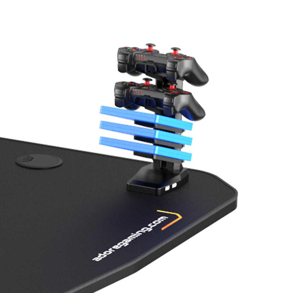 Adore Gaming Profesyonel Oyuncu Bilgisayar Masası Karbon Çelik Gövde - Siyah