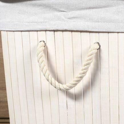 Handy Mate Bambu Çamaşır Sepeti - Beyaz - Thumbnail