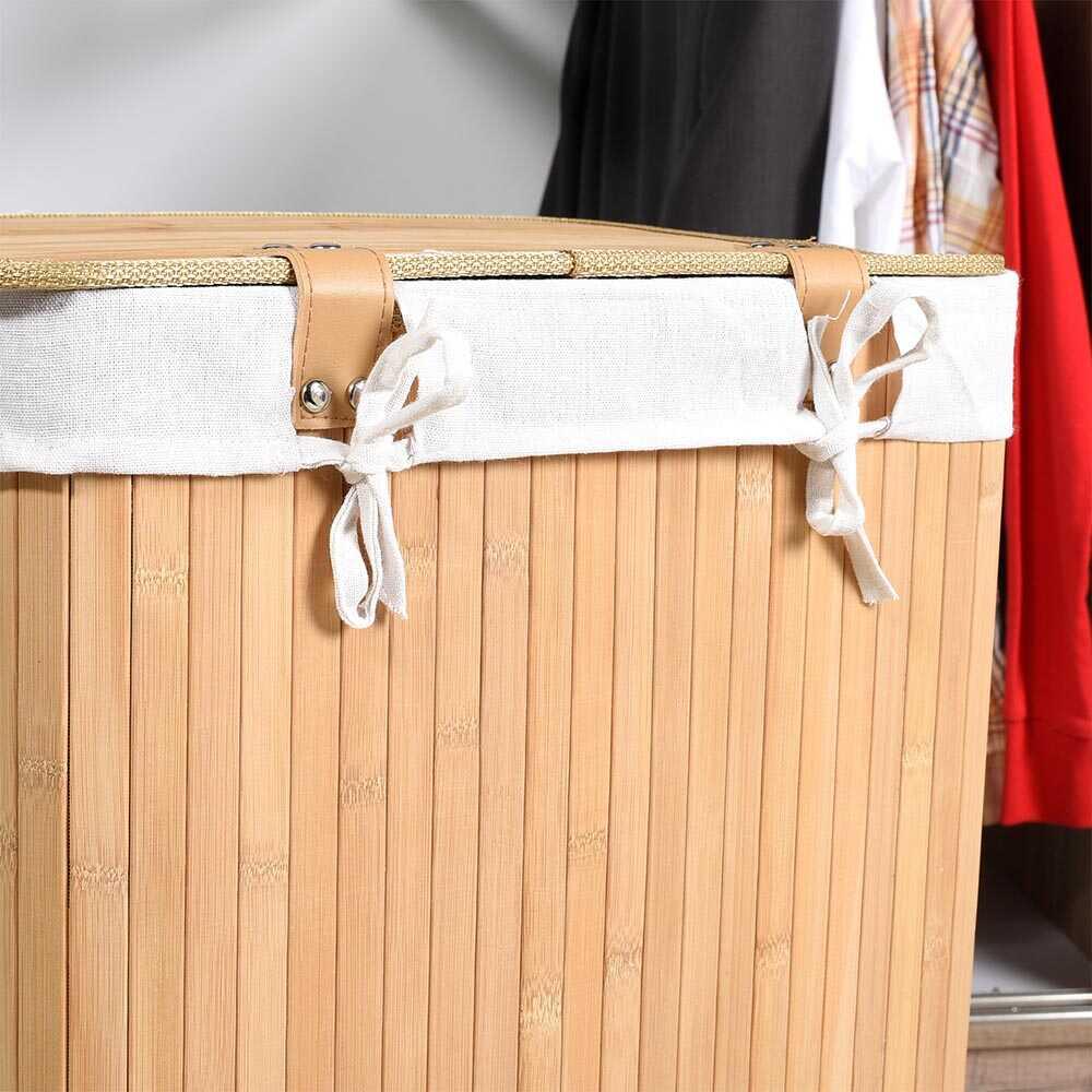 Handy Mate Bambu Çamaşır Sepeti - Naturel