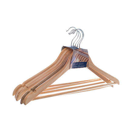 Adore Handy Mate Masif Elbise Askısı HMA-012-NT-5 Naturel