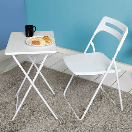 Handy Mate Ready Katlanır Sandalye-Beyaz - Thumbnail