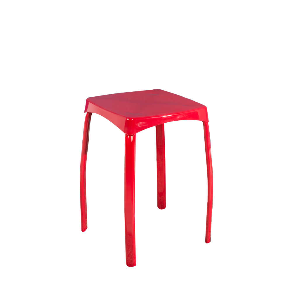 Handy Mate Star Parlak Renkli Tabure - Kırmızı