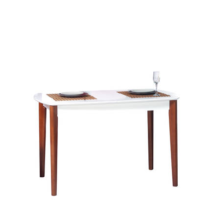 Adore Mobilya - Adore Houston Açılır Masif Yemek Masası / ZBST-01-AK-1 / Beyaz