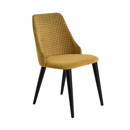 Adore Mobilya - Lizbon Siyah Ayaklı Sandalye-Siyah / Sarı