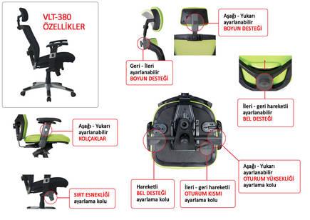 Adore Manager Techno File Sırtlı Yönetici Koltuğu VLT-380-FS-1 Siyah - Thumbnail