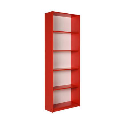 Adore Mobilya - Max 5 Raflı Kitaplık - Kırmızı