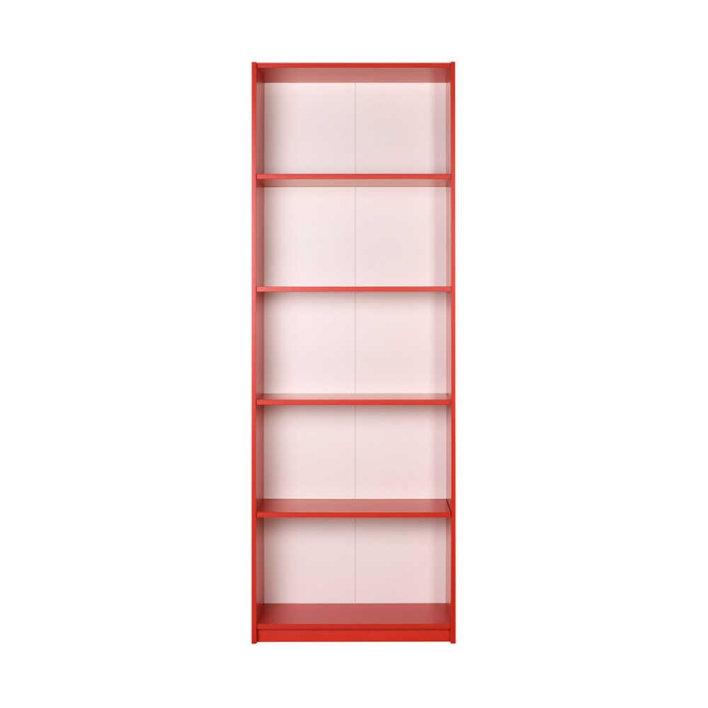Max 5 Raflı Kitaplık - Kırmızı