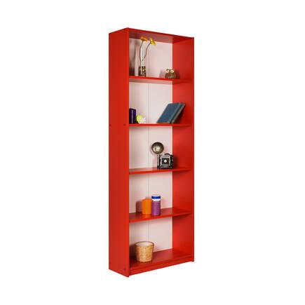 Max 5 Raflı Kitaplık - Kırmızı - Thumbnail