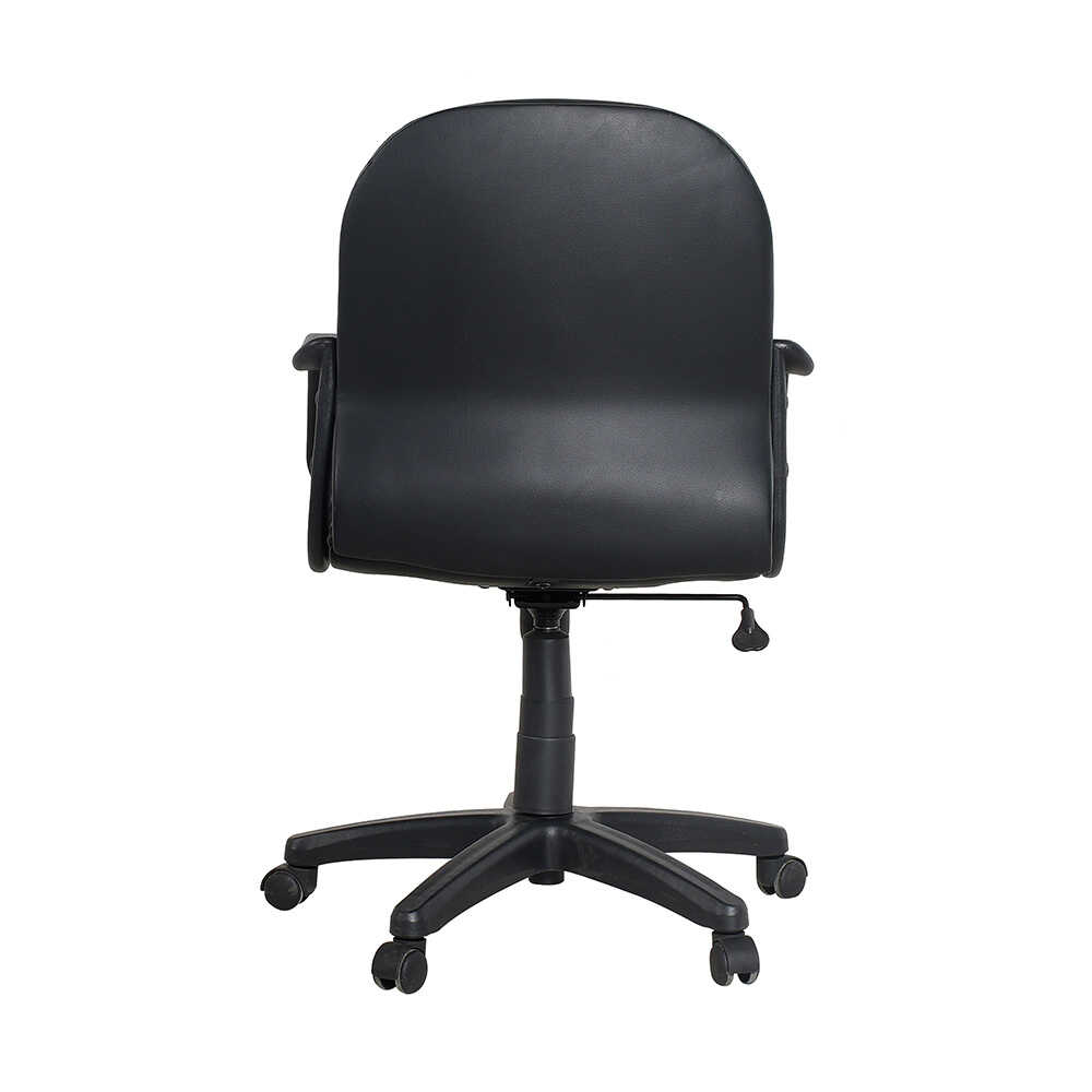 Max Office Classic Suni Deri Çalışma Koltuğu - Siyah - Suni Deri
