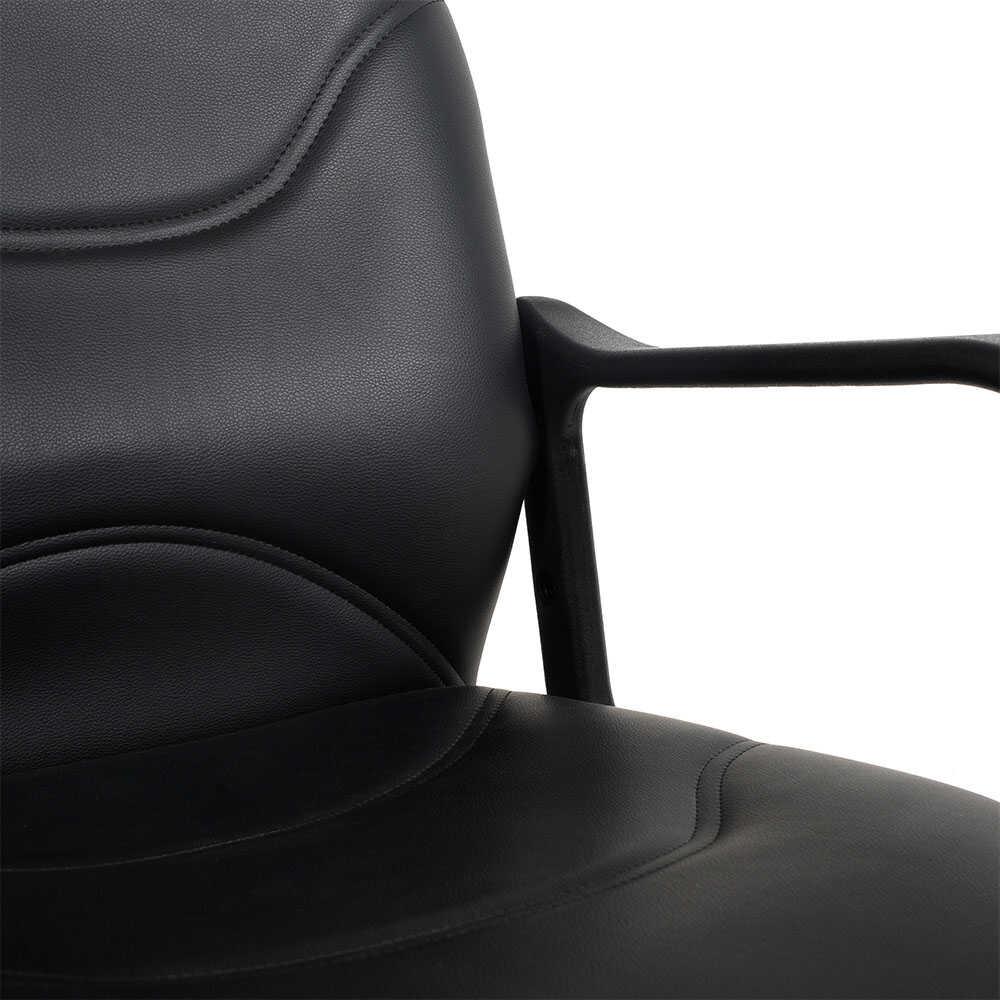 Max Classic Suni Deri Çalışma Koltuğu - Siyah - Suni Deri