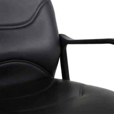 Max Office Classic Suni Deri Çalışma Koltuğu - Siyah - Suni Deri - Thumbnail