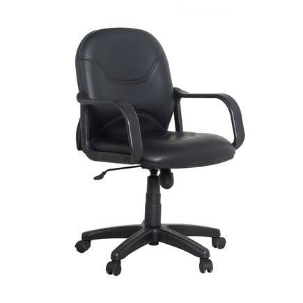 MAX OFFICE - Max Office Classic Suni Deri Çalışma Koltuğu - Siyah - Suni Deri
