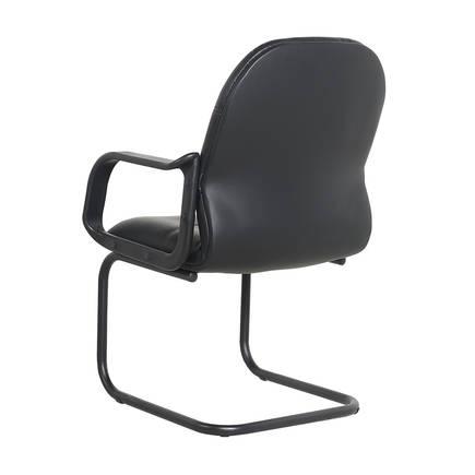 Max Office Classic Suni Deri Misafir Koltuğu - Siyah - Suni Deri 2 Adet - Thumbnail