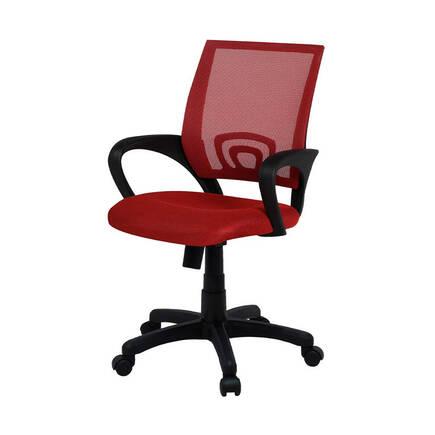 Max Office Turbo File Sırtlı Çalışma Koltuğu - Kırmızı - Thumbnail