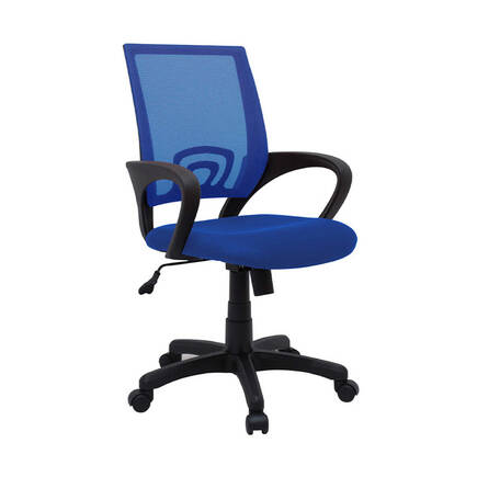 MAX OFFICE - Max Office Turbo File Sırtlı Çalışma Koltuğu - Mavi