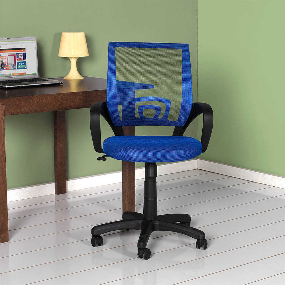 Max Turbo File Sırtlı Çalışma Koltuğu - Mavi