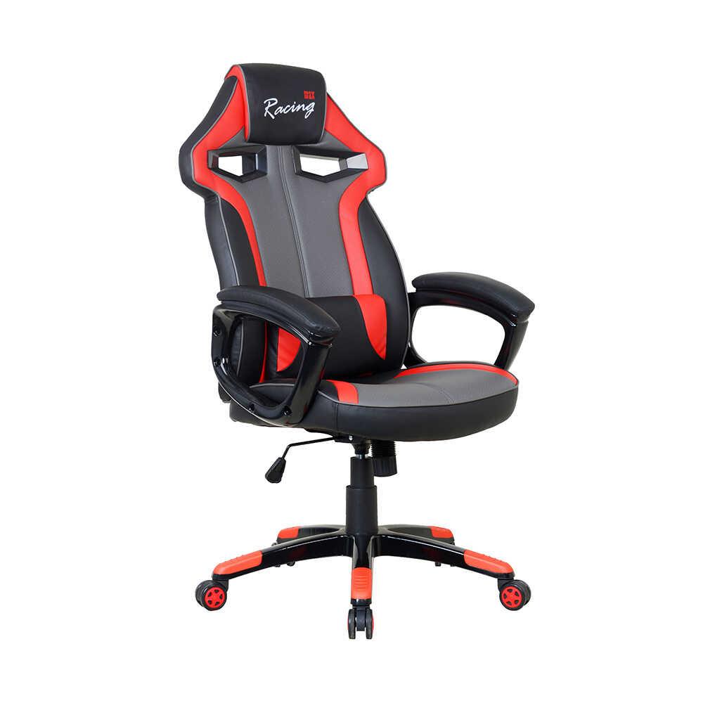 Max Racing Combat Oyuncu Koltuğu-Siyah Gri Kırmızı