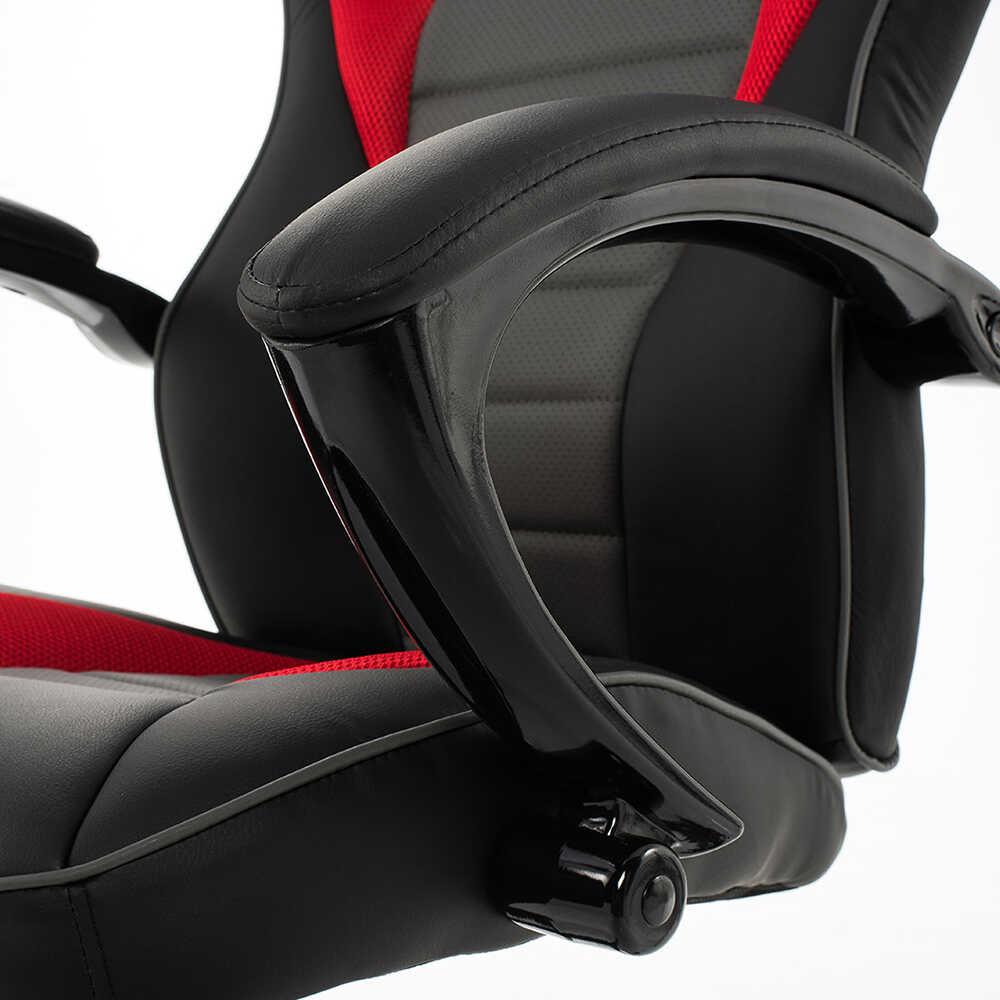 Max Racing Oyuncu ve Çalışma Koltuğu - Gri-Siyah-Kırmızı