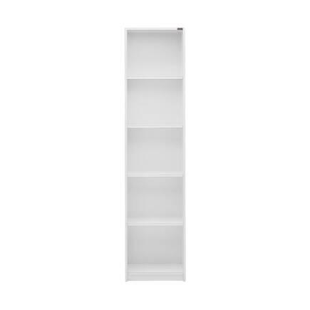 Modern 5 Raflı Dar Kitaplık - Lake Beyaz - Thumbnail